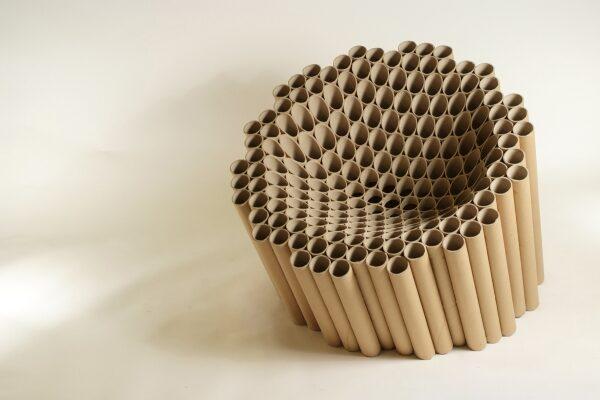 стол от хартиени тубуси